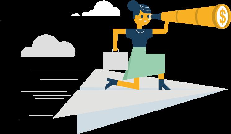 Ilustração - Encontre o significado do seu negócio